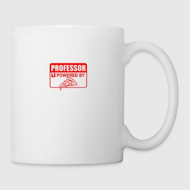 Professor powered by pizza - Mug