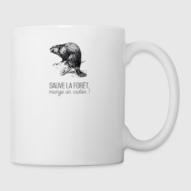 Saves the forest, eat a beaver! - Mug