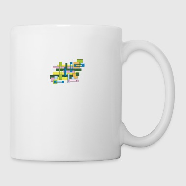abstract full and empty rectangles - Mug