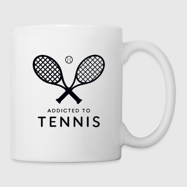 Giocatore di tennis. Addicted al tennis - Tazza