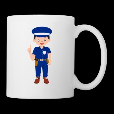 Policeman cartoon thumbs up gift - Mug