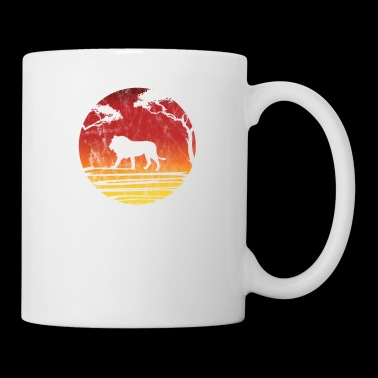 Silhouette lion gift Africa safari savanna zoo - Mug