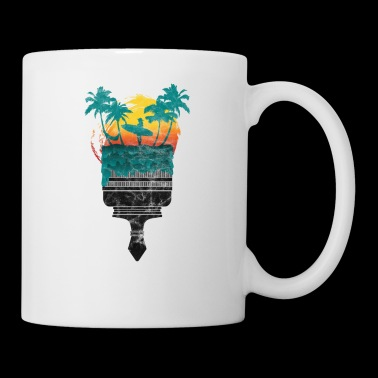 Surfer palms gift sun holiday hammock - Mug