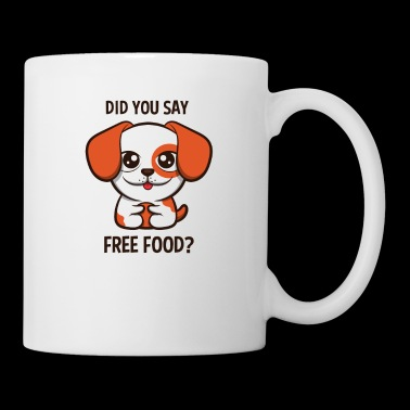 Cute Dog Loves Free Food Shirt | Morsom doggy hund - Kopp