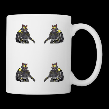 Cat knight jetpack funny comic new funny cute - Mug