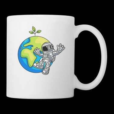 Astronaut Space Day Earth Gift Miljö - Mugg