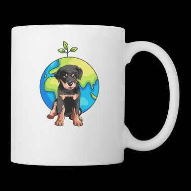 Ambiente regalo cane Rottweiler Earth Day - Tazza