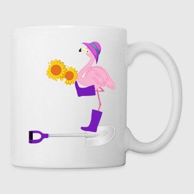 I Love to Play in the Dirt Funny Flamingo - Mug
