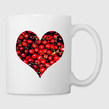 Cherry Heart Red Love Regalo di San Valentino - Tazza