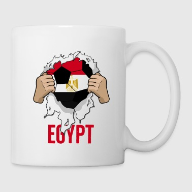 Egypte Egypte Cool Fan de cadeau de football - Mug blanc