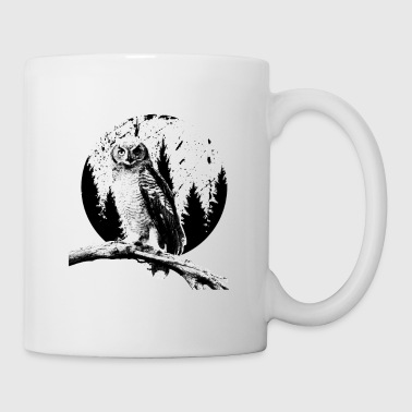 Ugle Moon Trees Natlige Bird Night Predator Lover - Kop/krus