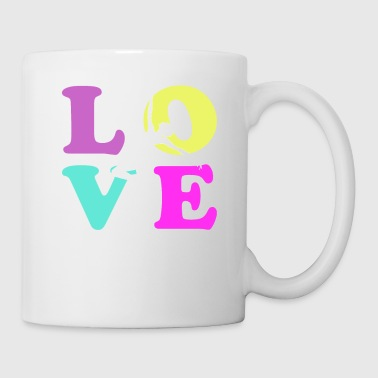 Love Dance Retro Vintage Color - Tasse