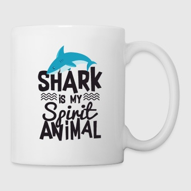 Cool Shark Is My Spirit Animal Citaat T-shirt - Mok