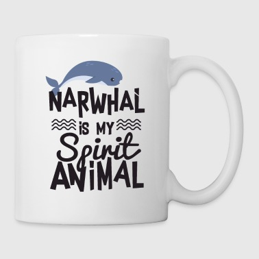 Funny Narwhal is My Spirit Animal T-shirt - Taza