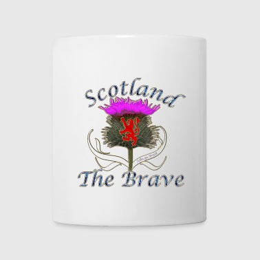 scotland the brave thistle lion design - Mug