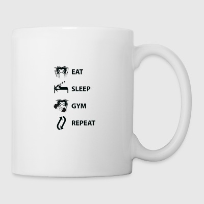Eat Sleep Gym Repeat - Mug