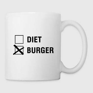 Burger VS Diet Food Lover - Kubek