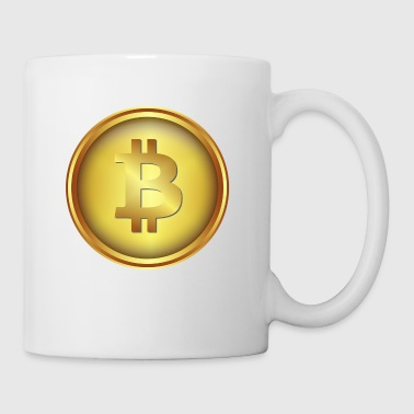 bitcoin Münze Gold - Tasse
