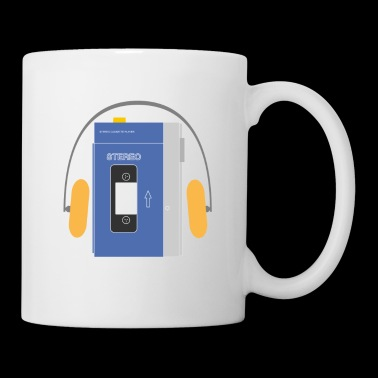 Stereo walkman in blue - Mug
