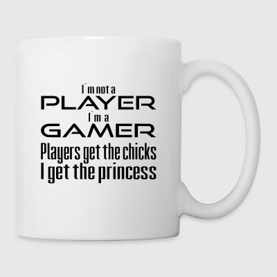 Players get the chicks. Gamers get the prinecess - Mug
