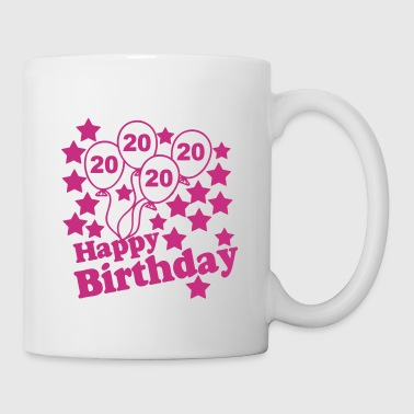 20 Geburtstag Happy Birth - Tasse