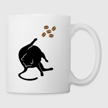 Cat licks butt and thinks about coffee caffeine - Mug