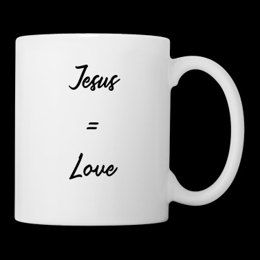 Jezus = liefde - Jezus shirt / Merch - Mok