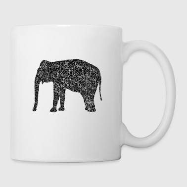 Elefant als Illustration - Tasse