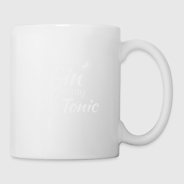 Gin Tonic Spruch You are the gin to my tonic weiss - Tasse