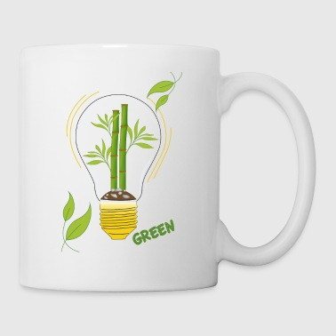 green light bulb - Mug
