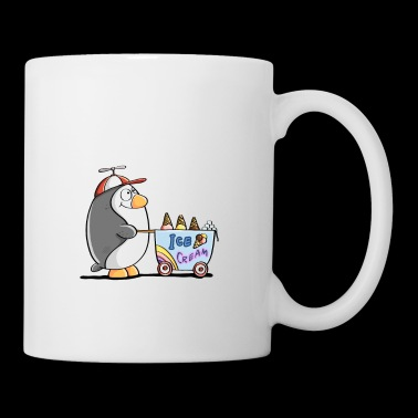 I Love Penguins And Ice Cream - Pinguin Eis Comic - Tasse