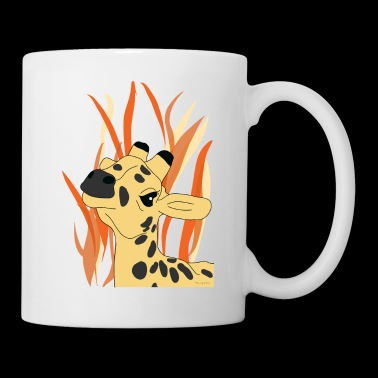 Savane de girafe unique - Mug blanc
