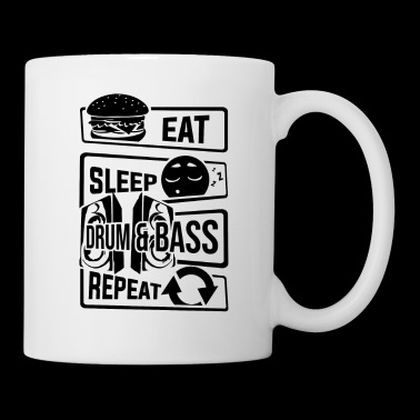 Eat Sleep Drum & Bass Repeat - Party Festival Beat - Tasse