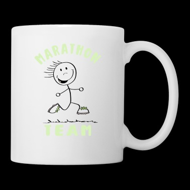 Marathon Team - Runner Stick Figure - Mug blanc