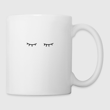 eyelashes, closet eyes - Mug
