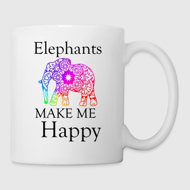 Elephants make me happy - Mug