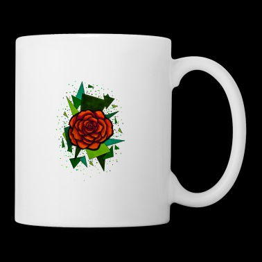 Red Rose Art Design Tatouage - Mug blanc