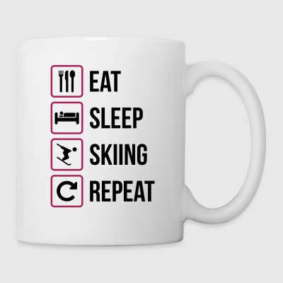 Eat Sleep Skiing Repeat - Mug