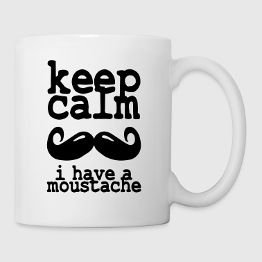 keep calm i have  a moustache - Mug blanc