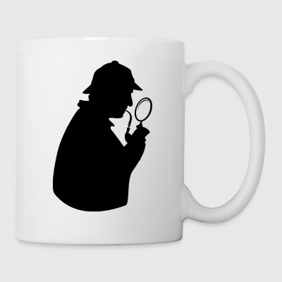 Detective in full investigation - Mug