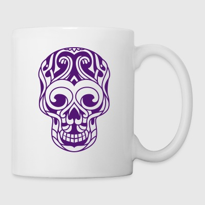 cráneo tribal decorada - Taza