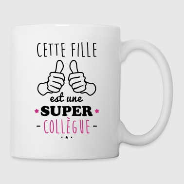 Fille super collègue - Mug blanc