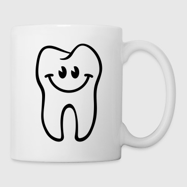 Dent- / Zahn- / Tooth- / Diente- / Dente-Smiley - Mug blanc