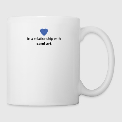 gift single taken relationship with sand art - Mug