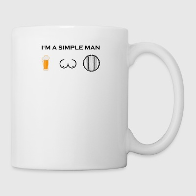 simple man boobs beer beer tits cycling mature w - Mug
