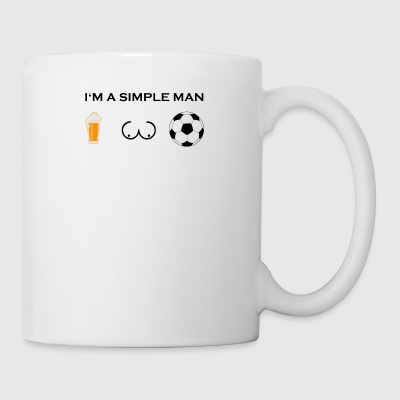 simple man boobs bier beer titten fussball ultras - Tasse