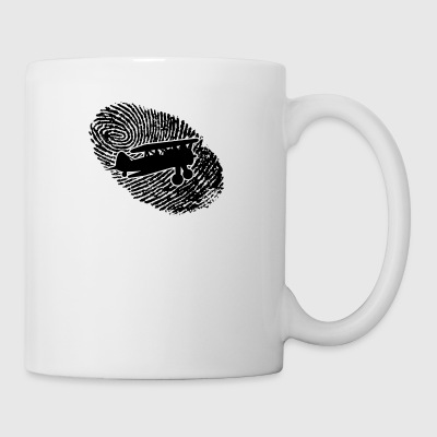 fingerprint dns dna gift airplane flying - Mug