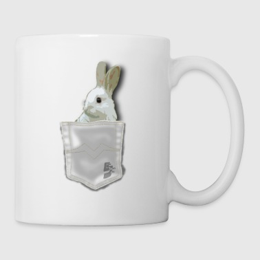 pocket rabit by customstyle - Mug blanc