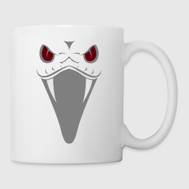 Snake with red eyes and fangs gift - Mug