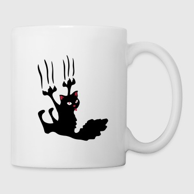 chat noir rebel ! - Mug blanc
